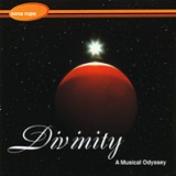 Divinity CD cover art, red planet in space with sparkling star or sun behind