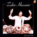 CD cover art, Zakir Hussain with four tablas