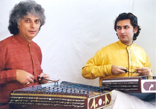 CD available from Right Time Music, Pandit Shiv Kumar Sharma with son Rahul, santoor duet